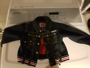 Authentic DOLCE & GABANA Jean Jacket 12-18 month