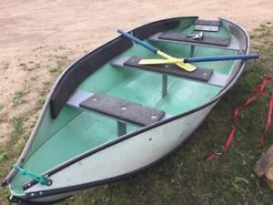 12' Folding Portable Boat w/3.5 hp Johnson Outboard