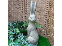 Stone Sitting Hare in Reconstituted Limestone