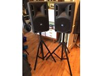 RCF 310A 800W Speakers and stands: great price at £350 for the pair!