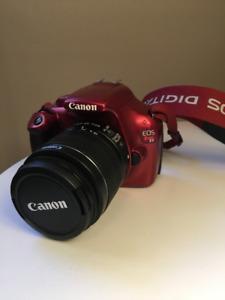 Red Canon EOS Rebel T3 Camera