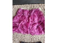 100% silk Karen Millen Purple skirt Size 8