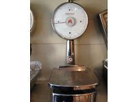 Original 1960's Italian 'Italiana Macchi' shop scales. Very Rare. In excellent order