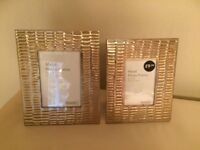 Modern Beaten Metal Gold Metal Photo Frames