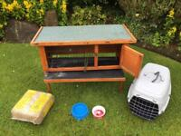 Rabbit or Guinea Pig Hutch (can deliver)+ Quality Pet Carrier + Extras