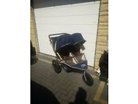 Double running buggy/stroller - BOB revolution duallie import collect only Stonehaven due to size