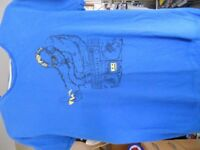 Mens Blue Motif T-Shirt