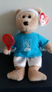 TY Beanie Babies FEDER-BEAR Tennis bear.
