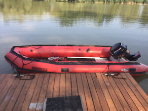Top of the line 16' Achilles sport utility boat+motor+trailer