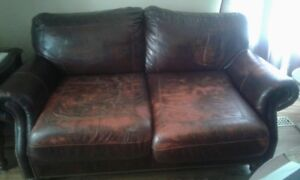 Large Leather Love Seat