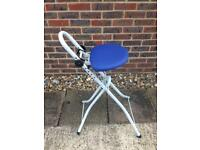 Folding Fold Up Perching Perch Stool Ironing Chair
