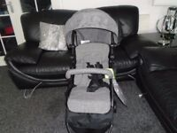 Brand new in box babystart one hand fold pushchair with storage bag
