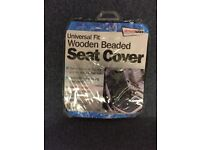 WOODEN BEADED SEAT COVER BRAND NEW FREE DELIVERY