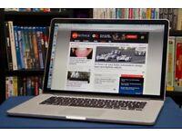 Macbook Pro RETINA Max Specs . 2015 , 15inch . i7 - 16GB - 1TB . Final cut , Logic Pro , Office