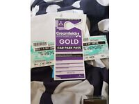2X 4 Day Gold Camping Creamfields tickets