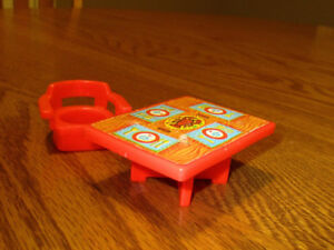 Vintage Fisher-Price Lobster Table and chair  Miniature.