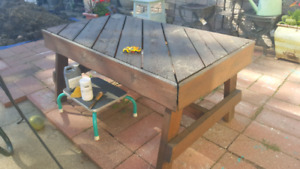 Solid out door table