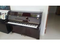 CRANES LACQUERED THREE PEDALS UPRIGHT PIANO - £200 DELIVERED WITH-IN M25 AREA TO GROUND FLOOR ONLY