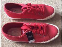 BNWT Next Red & White Pumps - Cost £18 - Selling at £6
