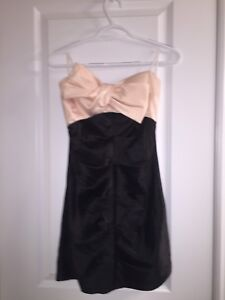 Dress -salmon and black in colour