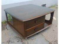 1960s Ercol Pandoras Box Coffee Table in Elm & Beech. Vintage/Retro/Mid Century