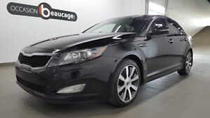 2011 Kia Optima EX LUXE, navigation, cuir gris, toit pano