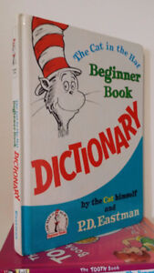 ▀▄▀Dr Seuss The Cat in The Hat Beginner Dictionary Oversized HC