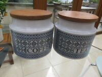Vintage Hornsea Pottery Tapestry Storage jars
