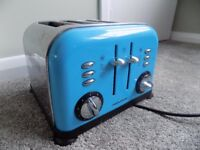 Morphy Richards Blue 'Accents' 4 Slice Toaster