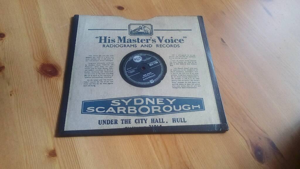Elvis presley 78rpm gramophone shellac record one night/ i got stung 1950s