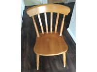 Country Pine gateleg table and 6 chairs sold separately or as a set