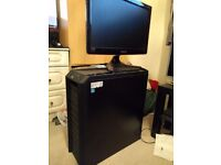 Gaming PC and Monitor in Antec Case