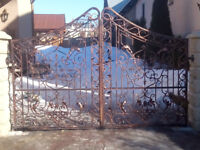 Wrought Gates and fences From £230/sqtm [ vine grapes ]