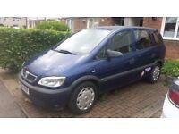 Quick SALE!! Vauxhall Zafira 1.6, 7 seater, Super Low Mileage, Cheap