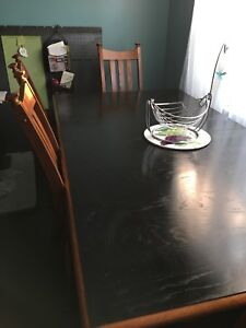 Beautiful solid wood formal dining table and chairs