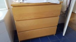 CHERCHE!! LOOKING FOR!! Commode IKEA MALM - couleur Chêne - Oak