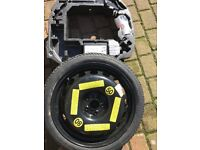 Audi A1 space saver wheel with jack/brace/ wheel insert for boot