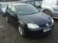 VOLKSWAGEN GOLF MK5 DIESELS AND PETROLS BREAKING FOR SPARES TEL 07814971951 HAVE FEW MORE IN STOCK