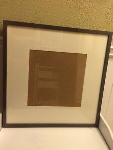 "IKEA - RIBBA - 20.5"" square picture frame GRAY/GREY"