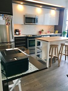 Kitchen island is already sold but still selling the bar stools