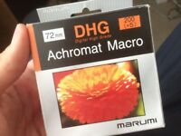 Marumi Digital High Grade (DHG) Achromat 200 (+5) Macro lens filter 72mm thread size