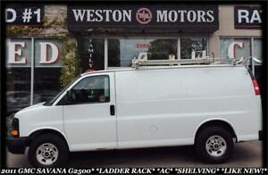 2011 GMC Savana 2500 LADDER RACK*A/C*SHELVING*LIKE NEW*3 YEAR WA