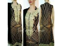 New Designer Indian Pakistani Bollywood shalwar kameez Long Dress Wedding Evening EID Dress UK