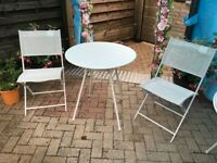 4 Garden Tables and 4 Chairs