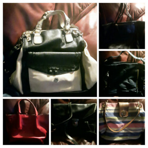 Variety of hand bags
