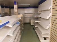 Shop interior shelving