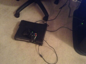 Xbox 360 with one corded controller