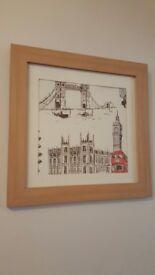 London scene photo frame