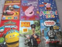 Selection of children's annuals - as new - not written in - perfect condition