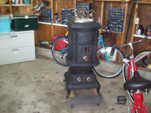 WOOD STOVE CAST IRON PARLOR